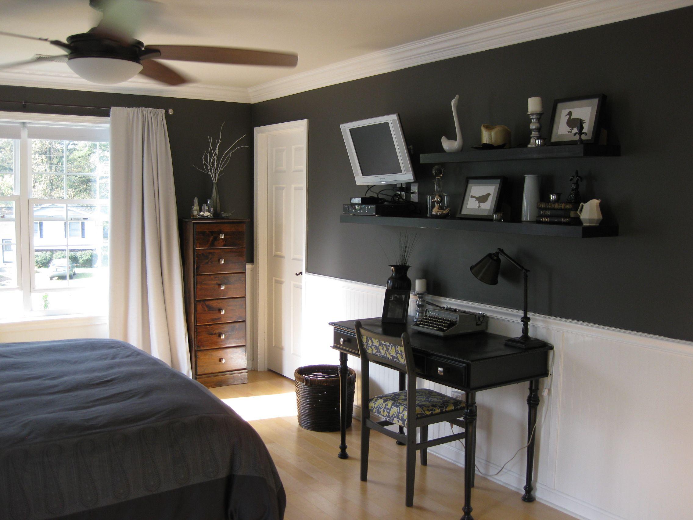 Dark paint ideas for bedroom  I like it  My home  Pinterest