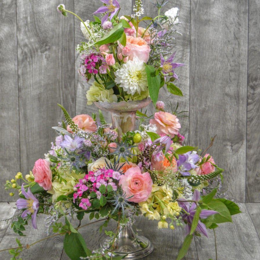Monday Inspiration An English Garden Transported Inside Reception Decorations Flowers Flower Arrangements