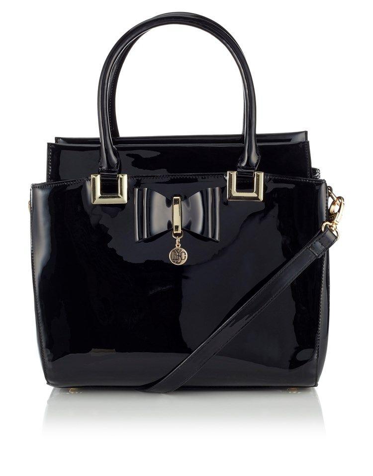 Lydc Bow Patent Handbag