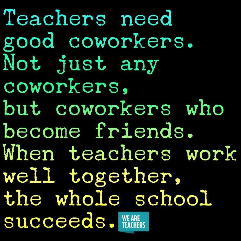 Wish the gossipy, crabby teachers would just knock the crap