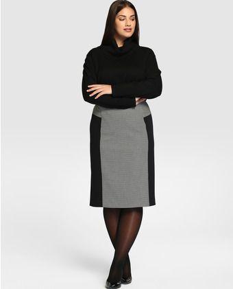 Falda corta de mujern talla grande Talla y Moda con estampado