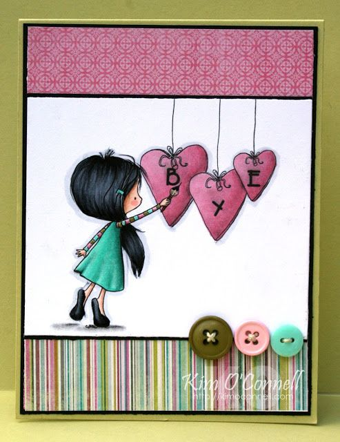 """Paper Perfect Designs by Kim O'Connell:  Tiddly Inks """"Heartfelt Love"""""""