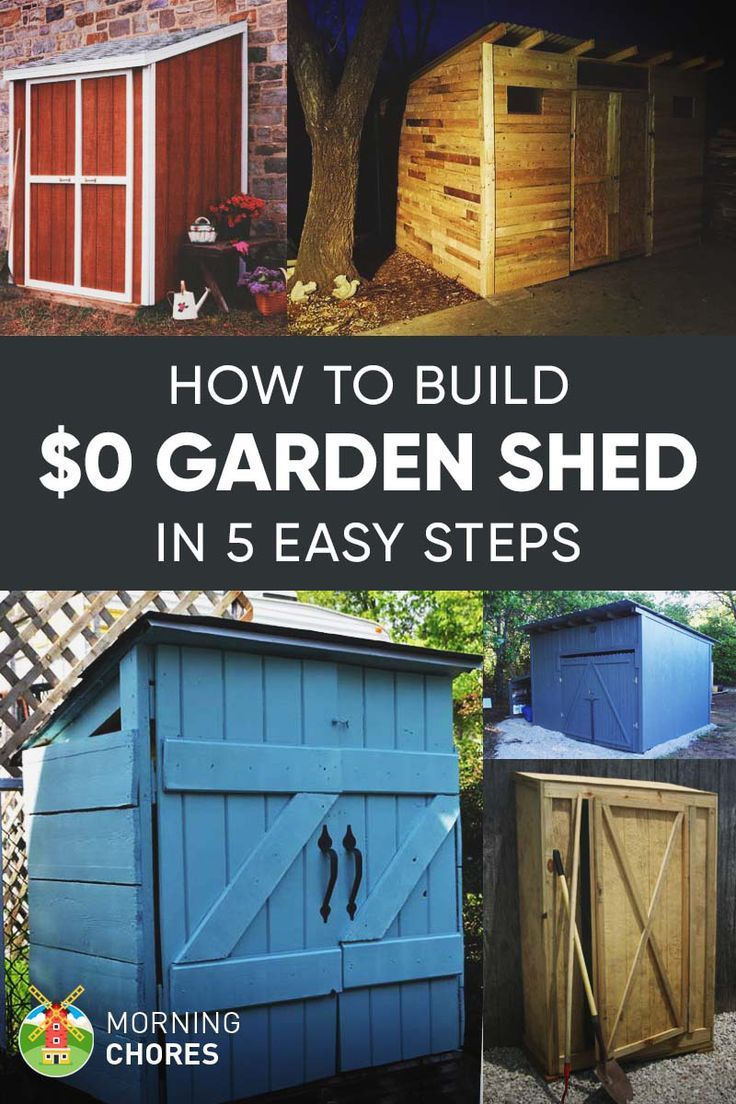 How To Build a Practically Free Garden Storage Shed (Plus 8 ...