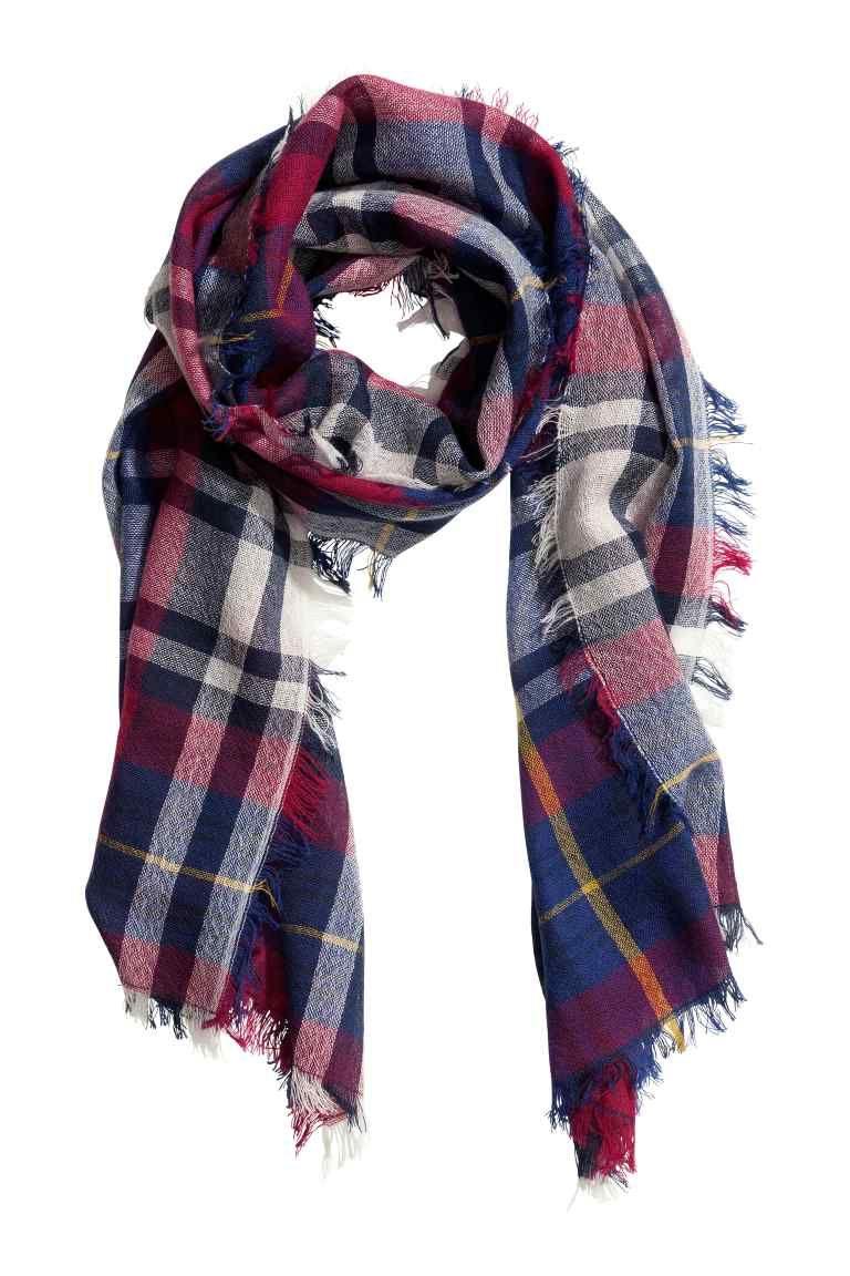 Bufanda de cuadros de lana | H&M