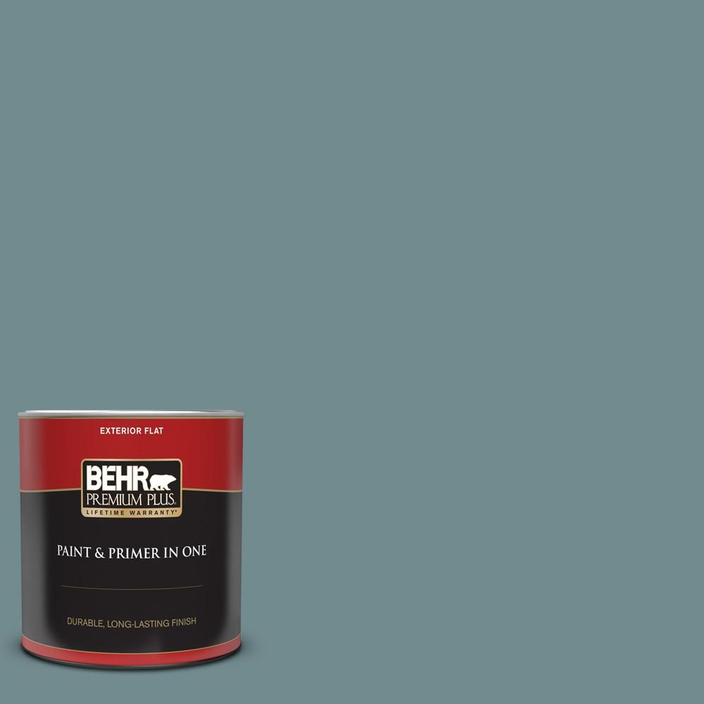 Behr Premium Plus 1 Qt Ppf 46 Leisure Time Flat Exterior Paint And Primer In One 430004 The Home Depot Exterior Paint Behr Marquee Paint Samples
