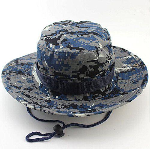 c08d9c1de67f6 MAIYU Boonie Hat Military Waterproof Cap Woodland Camo Fishing Bucket Hat  With String Snap Brim Hat Alternative Color - Camo Guys