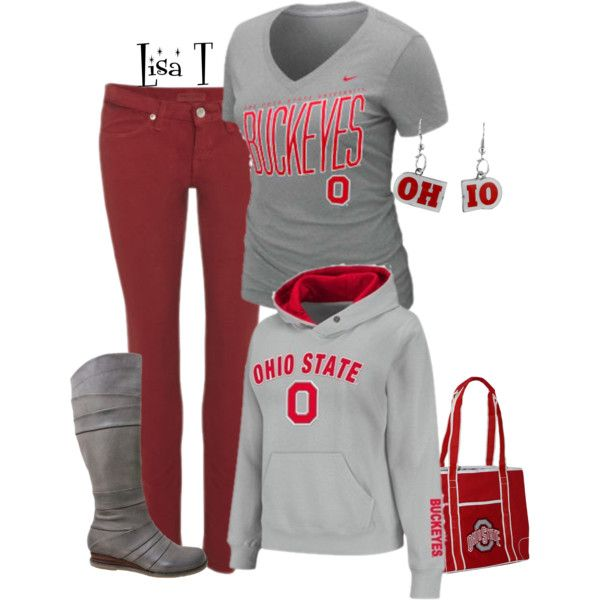 """""""Scarlet & Gray!"""" by lkthompson on Polyvore"""