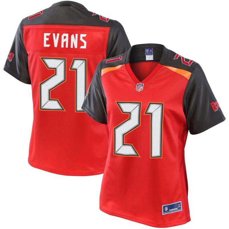 d453aa2dc03d3 Justin Evans Tampa Bay Buccaneers NFL Pro Line Women's Player Jersey - Red