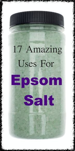 17 Amazing Uses for Epsom Salt, Some You Won't Believe ! #health