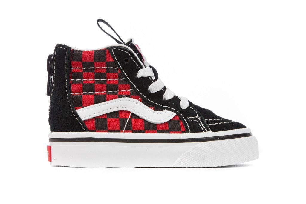 a8459c5972 Vans Toddlers Sk8-Hi Zip Checkerboard - Black Formula One