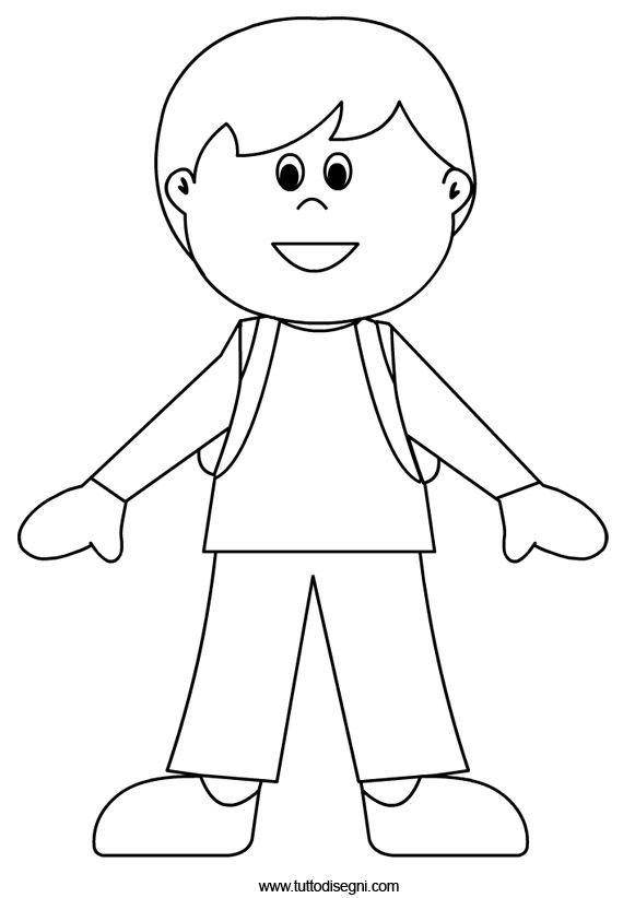Disegni Accoglienza Scuola Bambino Con Zaino Tutto Disegni