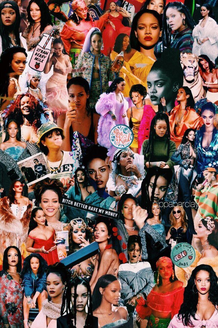 Pin By Rya Rmd On A Imprimer Celebrity Wallpapers Rihanna Rap Wallpaper