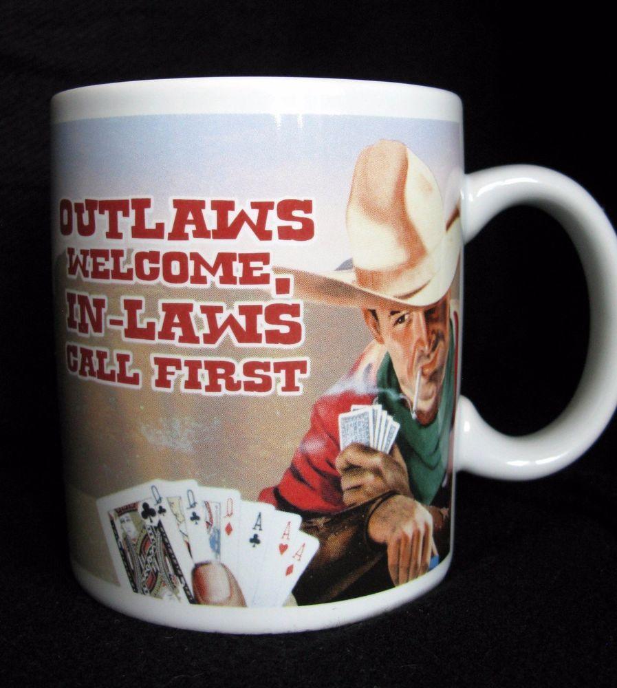 Two Wild Wild West Vandor Cowboy Coffee Mugs.
