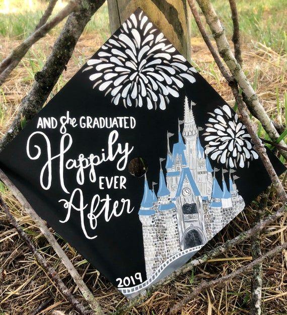 Custom Disney Inspired Grad/Graduation Cap Painting