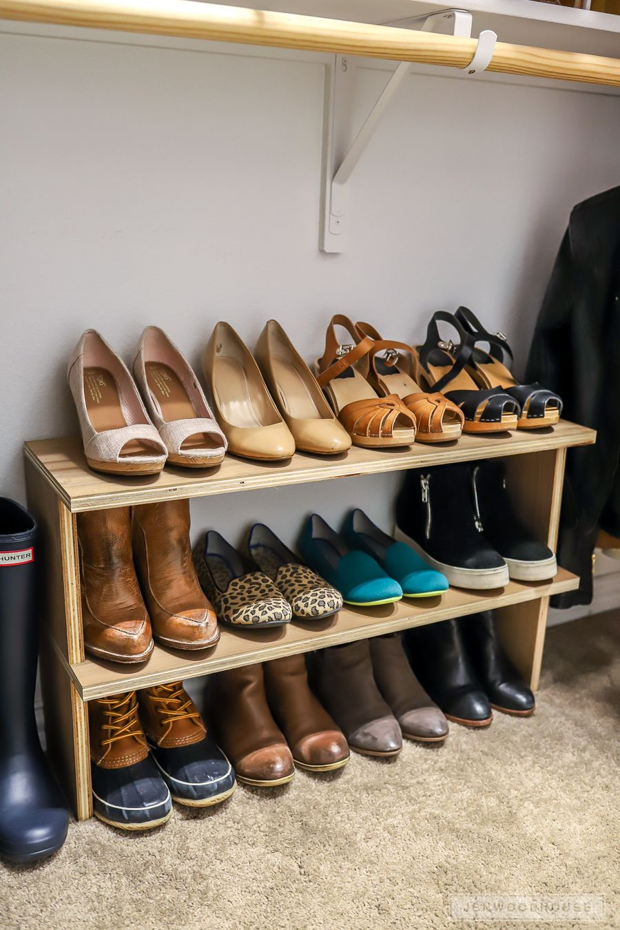 how to make an easy diy shoe shelf organizer in 30 minutes on wood shoe rack diy simple id=22070