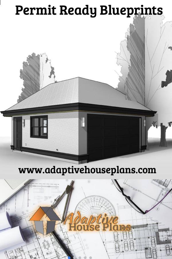 Detached Garage Plans Blueprints Accu Rated Blueprints House In 2020 Garage Plans Detached Detached Garage Carriage House Apartments