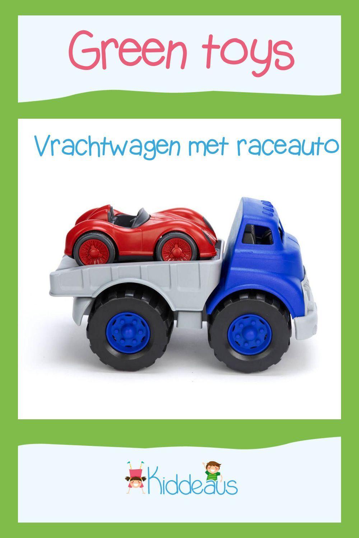 Green Toys Vrachtwagen Met Race Auto Kiddeaus Onine Speelgoedwinkel Jongen Speelgoed Vrachtwagens Auto