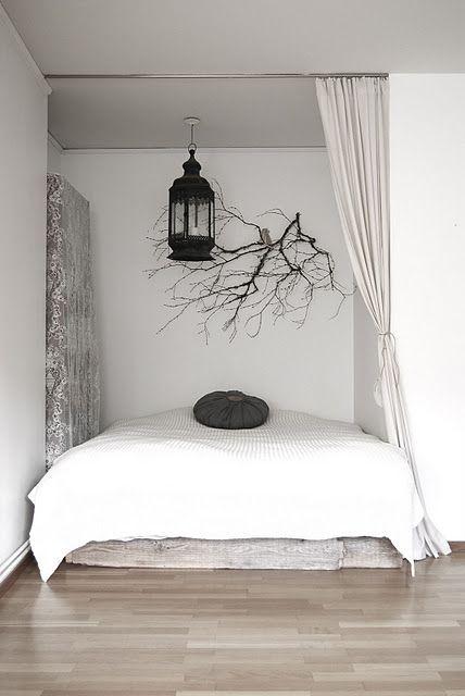 Schlafnische homeless Pinterest Schlafzimmer, Männerzimmer - Feng Shui Schlafzimmer Bett Positionierung