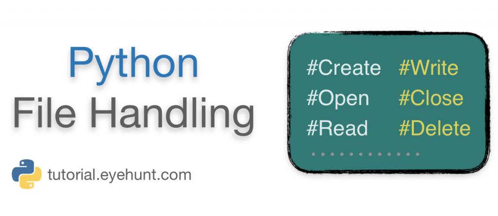 Python File Handling Introduction Writing