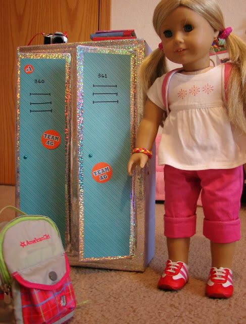 Doll Craft: Making a Set of School Lockers for Your Dolls #americangirldollcrafts