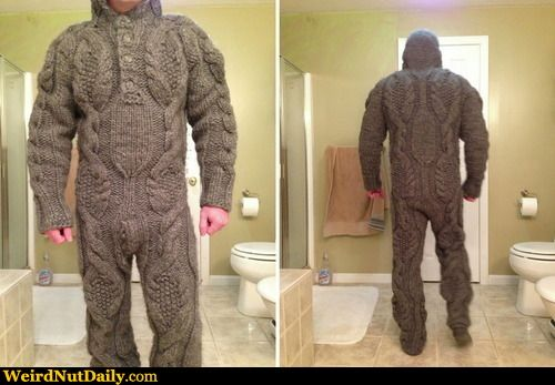 Funny Pictures @ WeirdNutDaily - Yes, You Can Take the Sweater Thing Too Far
