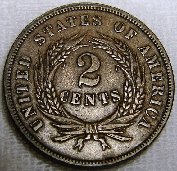 Two Cent Gem 1865 Civil War Coinage Hard To Find In This Condition by riggsbyscorner, $130.00