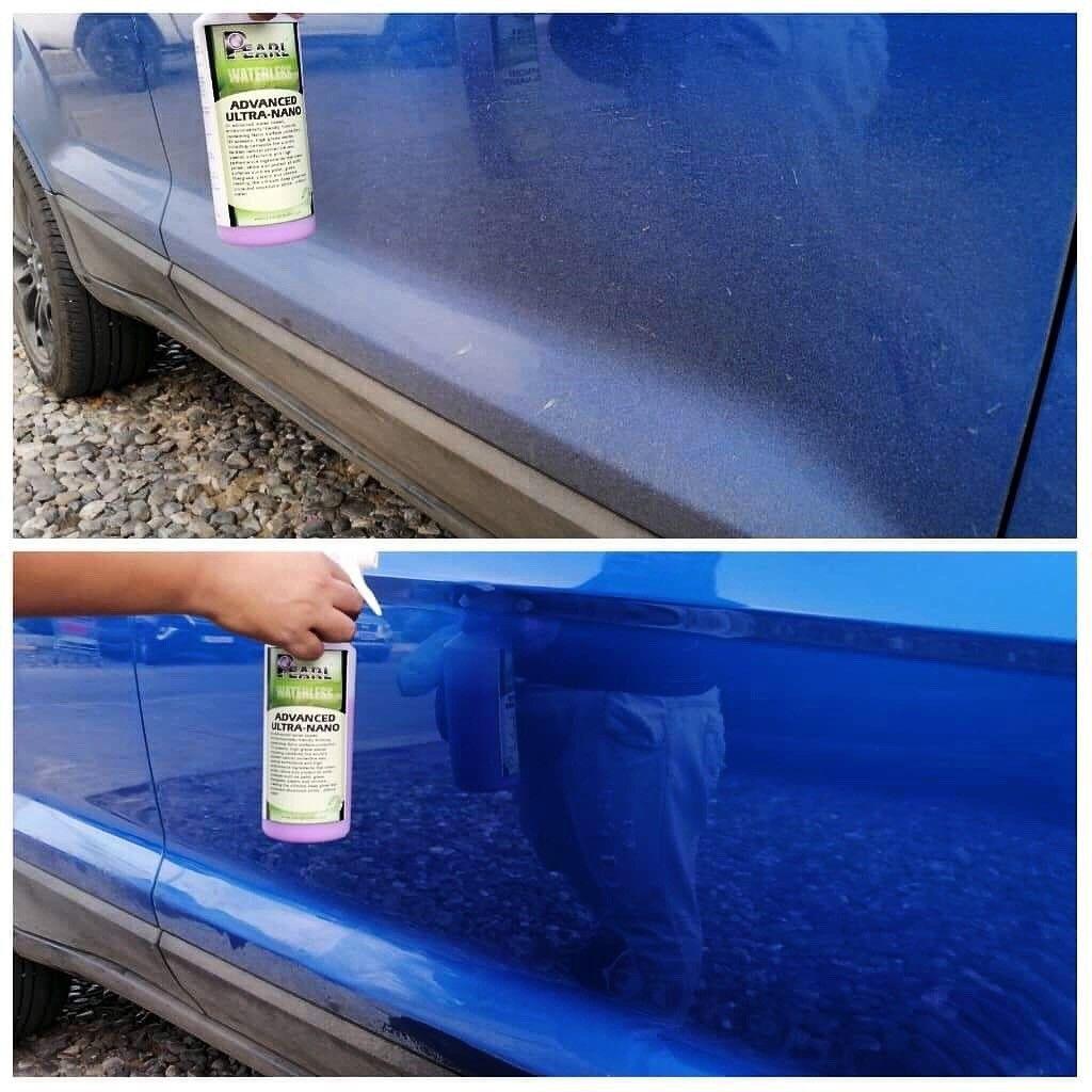 Pearl Advanced Ultra Nano 2 Wax Shine Super Hydrophobic Protection Waterless Car Wash Car Wash Waterless