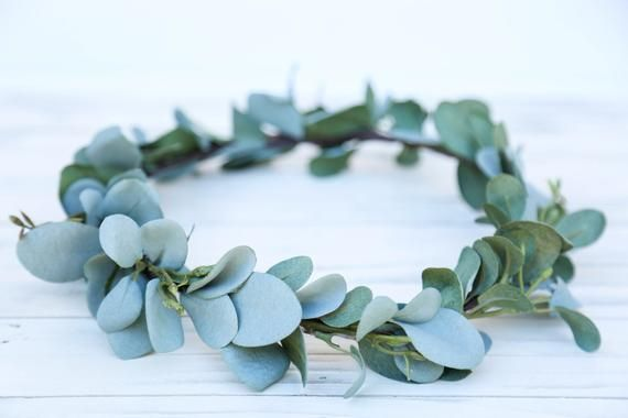Sage Green flower crown headband, eucalyptus flower crown, headband, wedding headband, flower headband, boho flower girl, boho floral crown #crownheadband