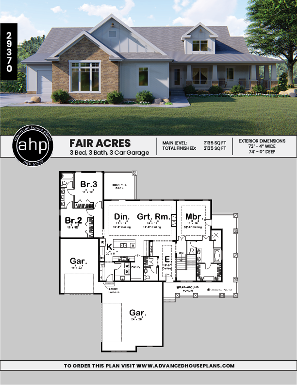 1 Story Farmhouse House Plan Fair Acres House Plans Farmhouse Cottage Style House Plans House Plans