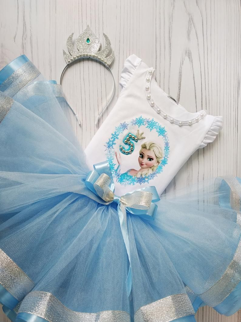 Frozen Birthday Tutu Outfit Elsa Frozen 5th Birthday Tutu
