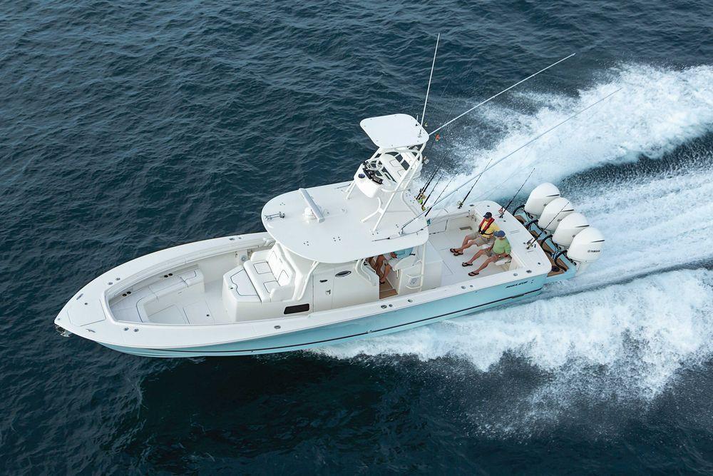 Salt water fishing boat review new regulator 41 salt for Saltwater fishing boat