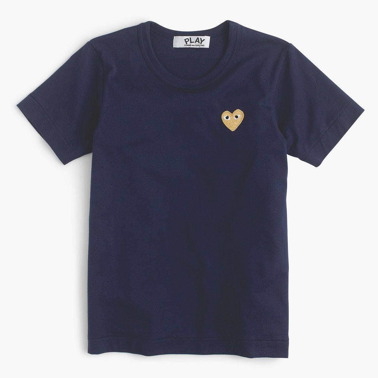 J.Crew Womens Play Comme Des Garcons Gold Heart T-Shirt (Size S)
