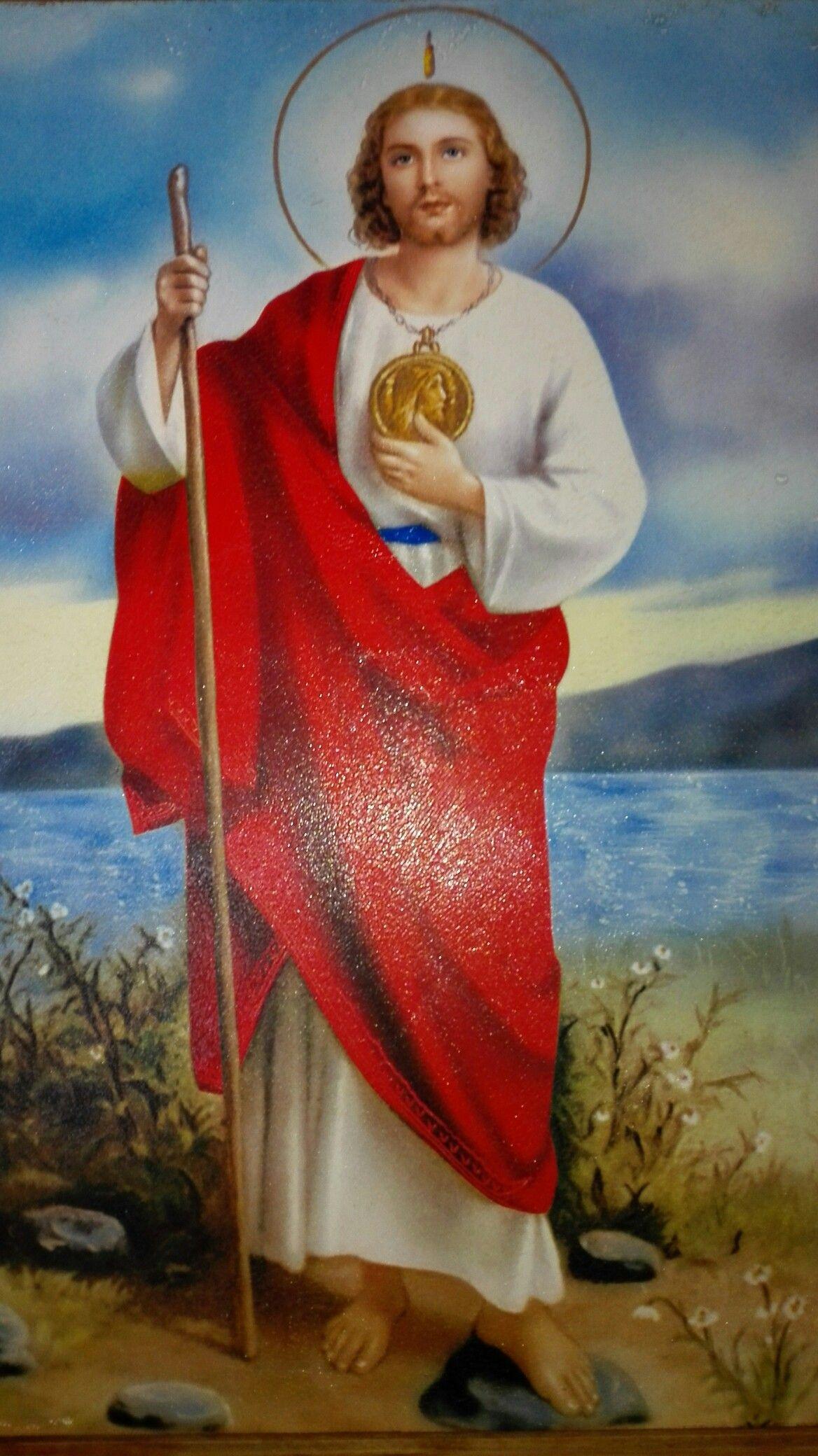 San Judas Tadeo Color Rojo Imagenes De San Judas Tadeo