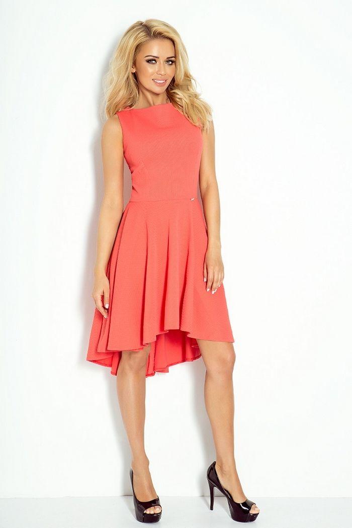 Sukienka Numoco Koral Rozkloszowana Na Wesele S Xl 6342971392 Oficjalne Archiwum Allegro Coral Dress Dresses Spring Summer Outfits
