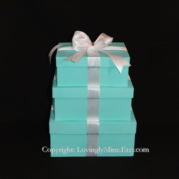 Centerpieces Tiffany Co Inspired Box Large Rectangular Tiffany Blue And White Vi Tiffany Blue Wedding Theme Tiffany Blue Centerpieces Tiffany Baby Showers