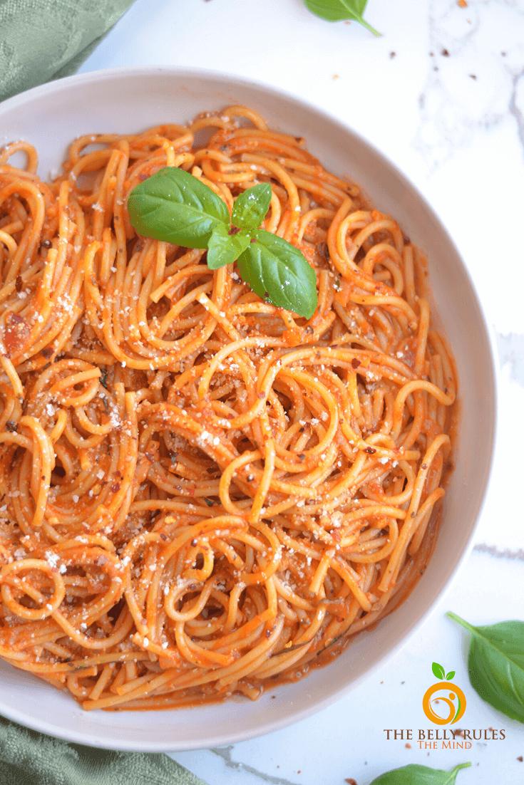 Instant Pot Vegan Spaghetti Noodles Recipe Thebellyrulesthemind In 2020 Vegan Spaghetti Recipes Best Vegetarian Recipes