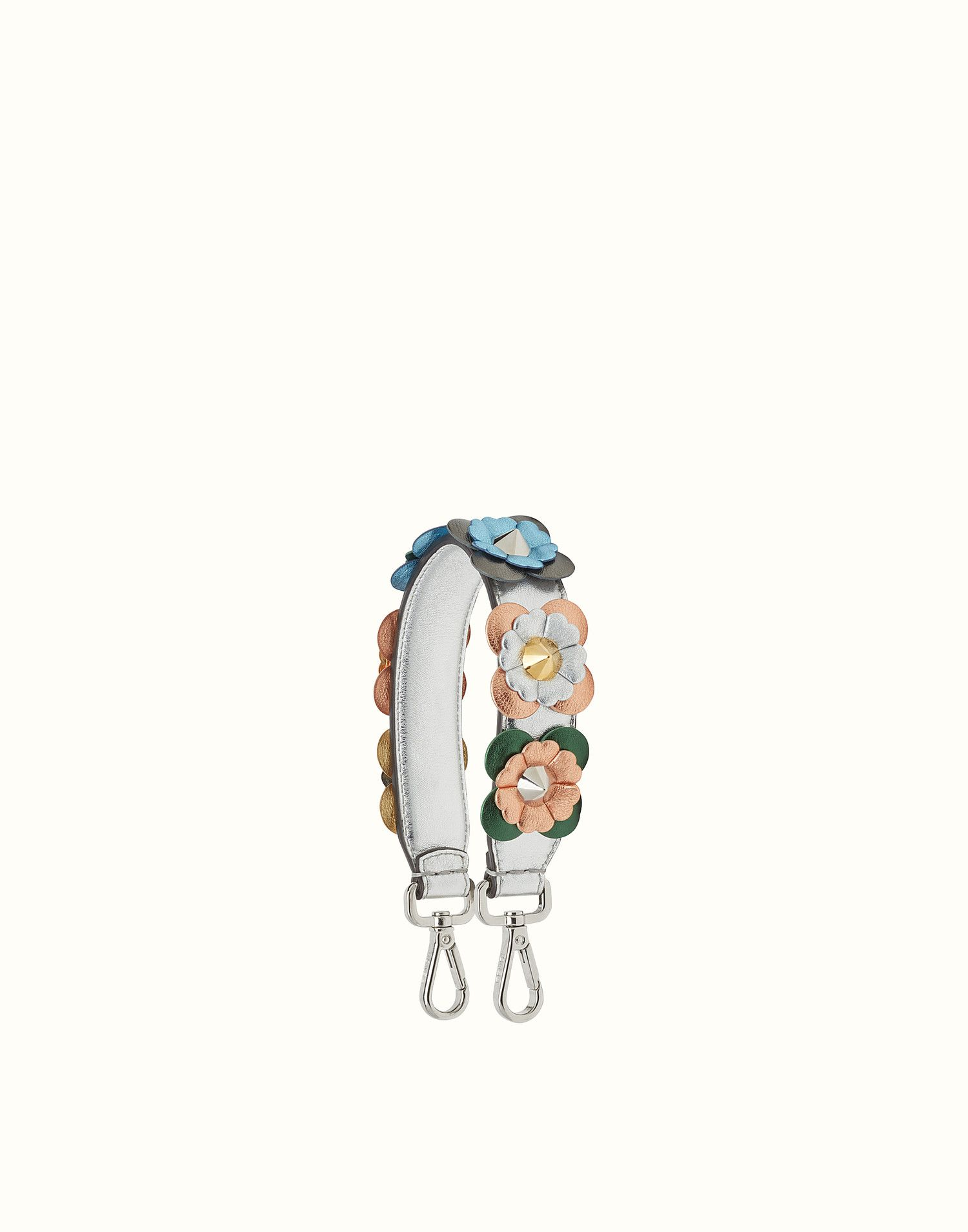 1469956dfc2ae FENDI MINI STRAP YOU - Short shoulder strap in leather with flowers - view  1 zoom