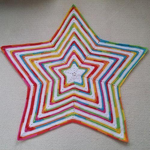 Crochet For Children Crochet Star Baby Blanket Free Pattern