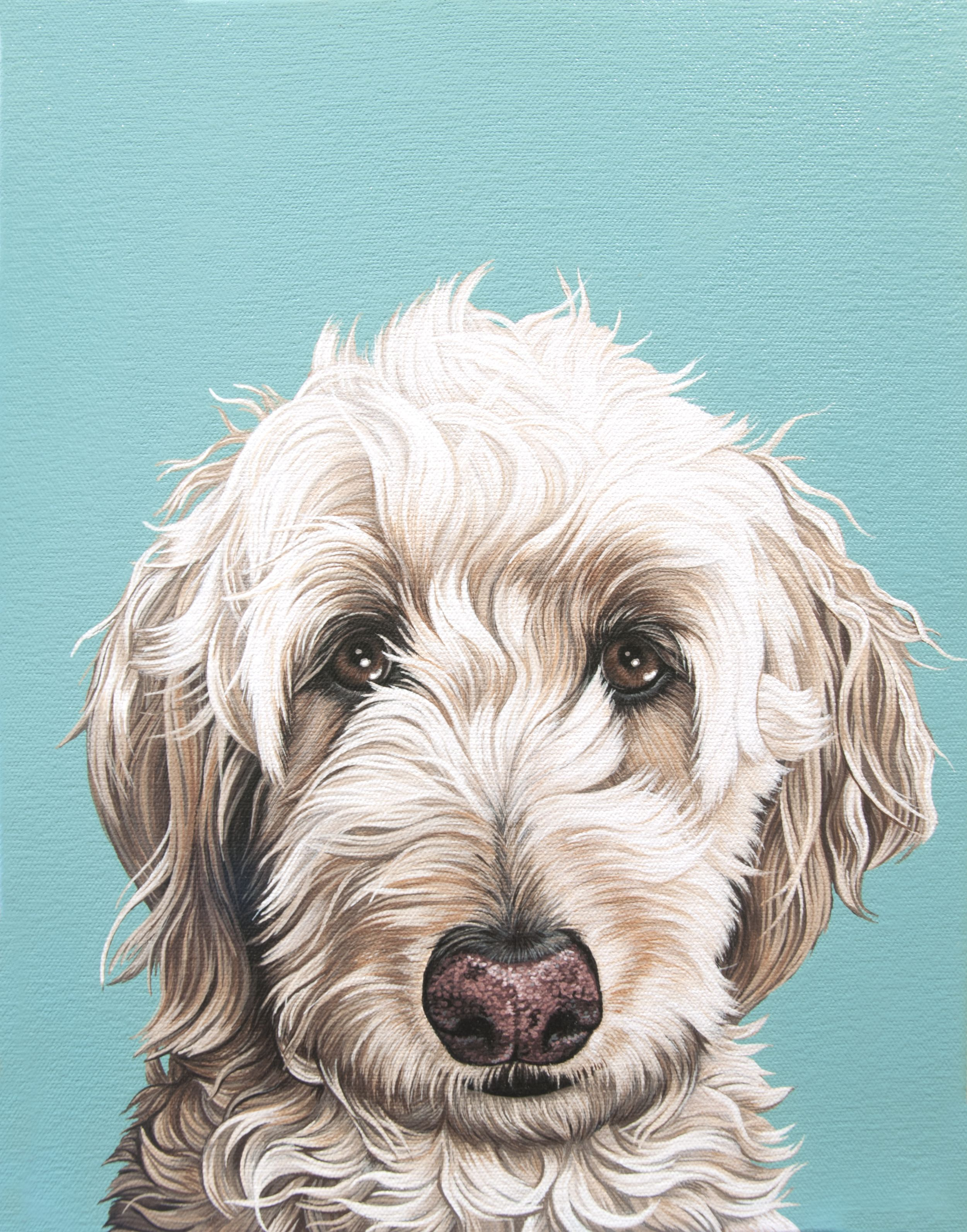 Pin By Mary Ann On Dogs Labradoodle Painting Dog Paintings