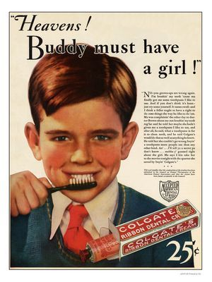 Colgate Toothpaste Advert 1932 | vintage dental ...