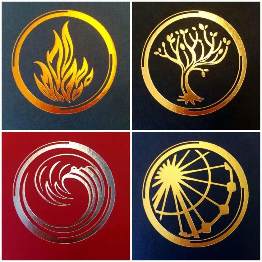 Símbolos de Divergente Saga Divergente, Trilogia