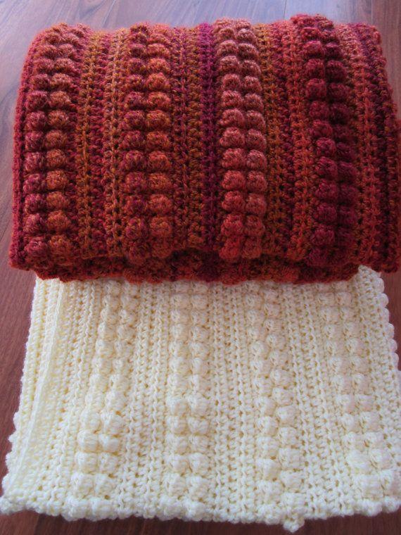 Crochet Afghan Pattern Easy Crochet Blanket Pattern Bobble ...