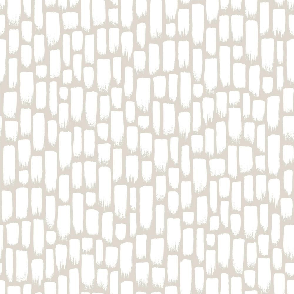Roommates Sumi E Taupe White Vinyl Peelable Roll Covers 28 18 Sq Ft Rmk11493wp The Home Depot Peel And Stick Wallpaper Room Visualizer Removable Wallpaper