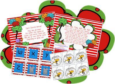 Seuss Letter/Number Games!