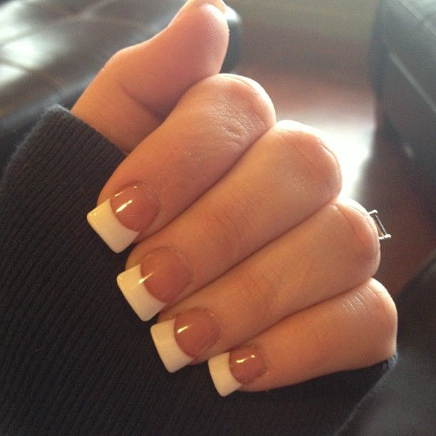 Cute White Tip Nails: Classic White Tips. Always Looks Good