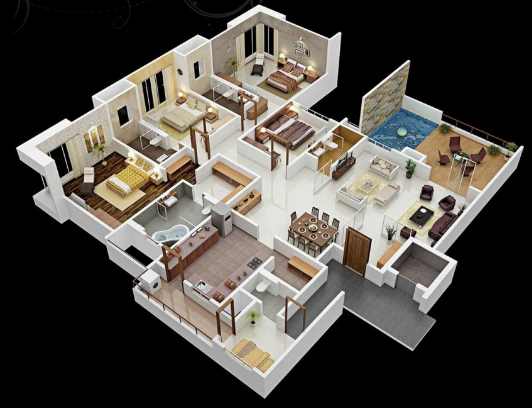 South Indian House Plan 2800 Sq Indian House Plans House Layout Plans Small House Plans