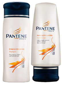Pantene shampoo and conditioner.