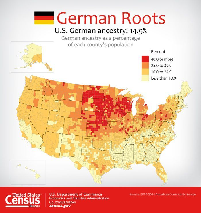 Share our German ancestry map httpgousagovcu44q