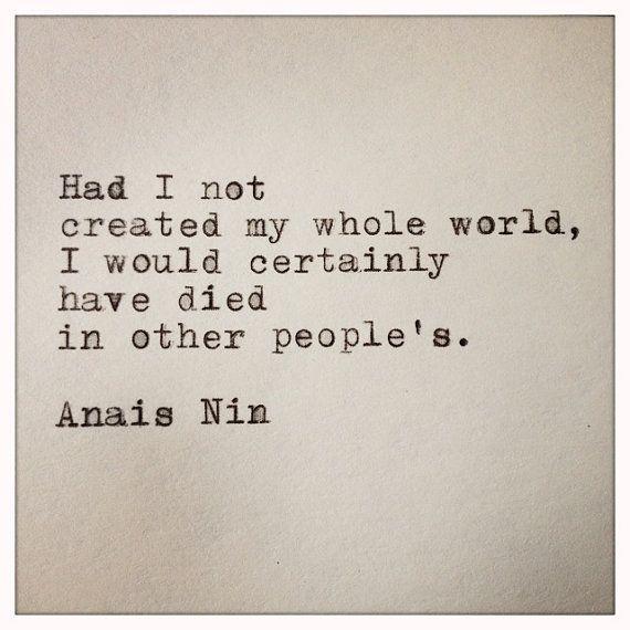 Anais Nin Quote Made On Typewriter And Framed By Whitecellardoor