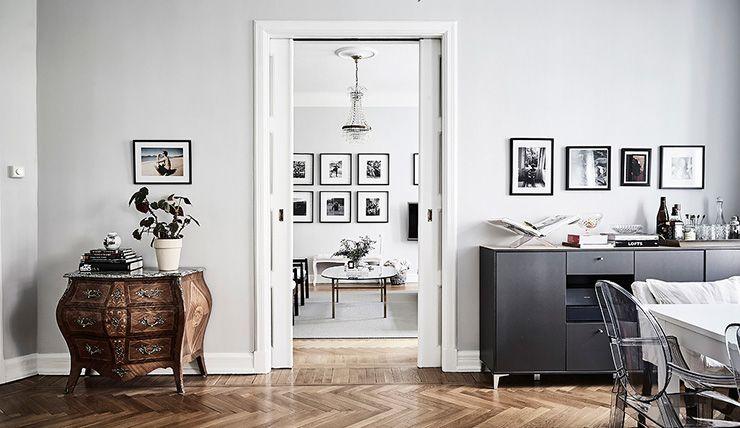 Visgraat Vloer Grijs : Huis vol zwart grijs en wit met visgraatvloer huisje